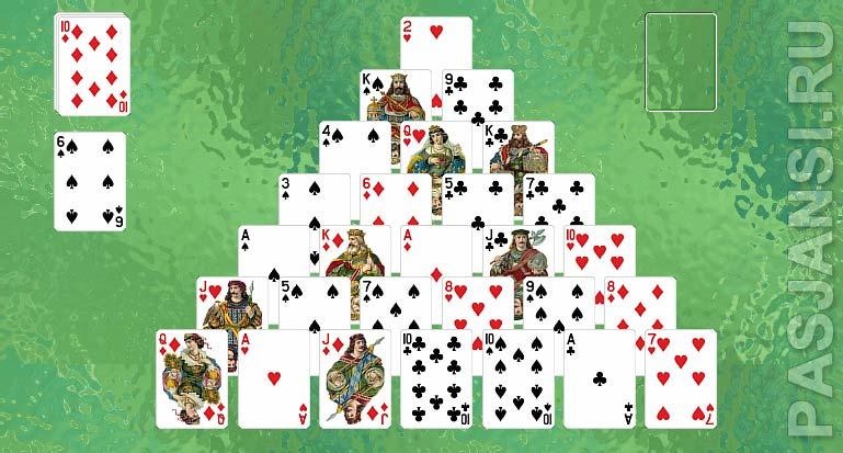 карты играем пирамида в пасьянс